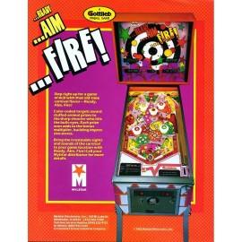 Ready Aim Fire Kit décor neuf Gottlieb