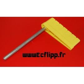 "Flipper "" ridges "" jaune long shaft"