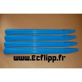 Pieds WPC ( x4 ) bleus type Roadshow