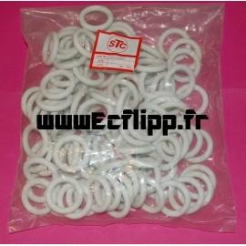 """Caoutchoucs 1"""" blancs lot de 100 pièces 23-6302 PRO"""