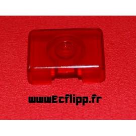 Face de cible 3D rectangulaire Rouge translucide