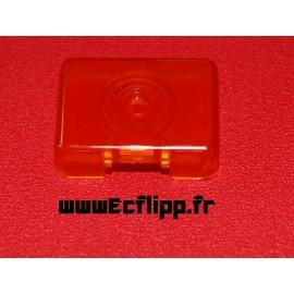 Face de cible 3D rectangulaire orange