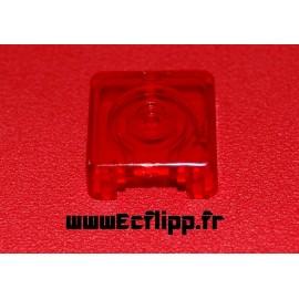 Face de cible 3D carrée Rouge translucide