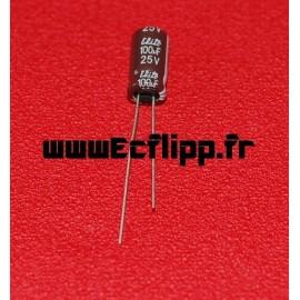 Condensateur 100µf 25v