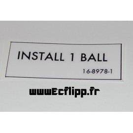 Autocollant INSTALL 1 BALL