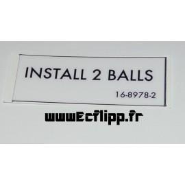 Autocollant INSTALL 2 BALL