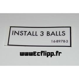 Autocollant INSTALL 3 BALLS