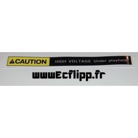 Autocollant CAUTION high voltage 8x13