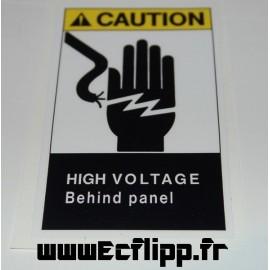 Autocollant CAUTION high voltage  15x1.5
