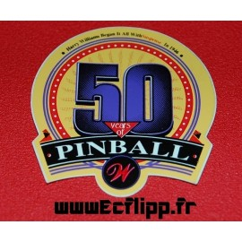 Autocollant  50Years of pinball Williams