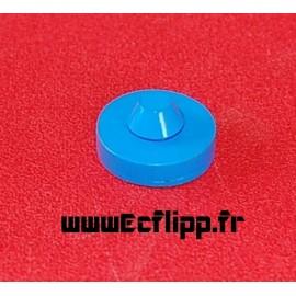 """Rubber pad rond 1"""" bleu"""