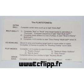 Carte instruction Flintstones