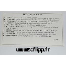 Carte instruction Theatre Of Magic