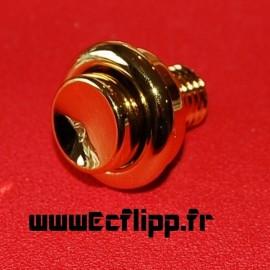 Bouton flipper 39 mm doré métalique
