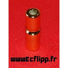 Post étroit 1-1/4 B / W doré métalique