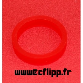 """Flipper silicone 3/8*1-1/2"""" rouge"""