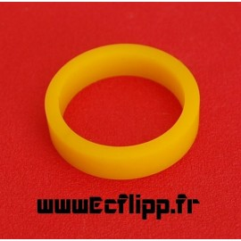 """Flipper silicone 3/8*1-1/2"""" jaune"""