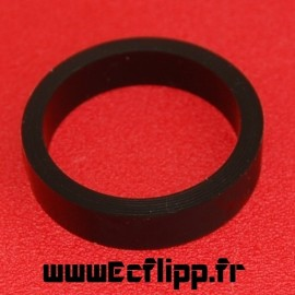 "Flipper silicone 3/8*1-1/2"" noir"