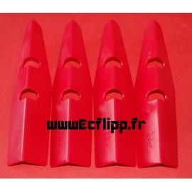 Protecteurs de caisse Be rouges set de 4