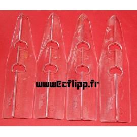 Protecteurs de caisse Be incolores set de 4