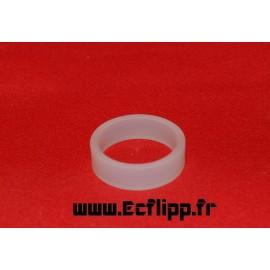 "cacaoutchouc de flipper silicone 1/2*  1-1/2"" translucide"