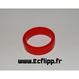 "Flipper silicone 1/2*  1-1/2"" rouge"