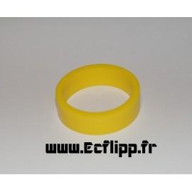 """caoutchouc de flipper silicone 1/2*  1-1/2"""" jaune"""