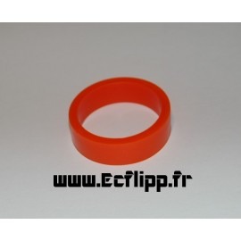 "cacaoutchouc de flipper silicone 1/2*  1-1/2"" orange"