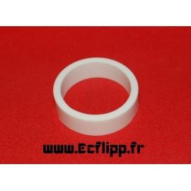 """cacaoutchouc de flipper silicone 1/2*  1-1/2"""" blanc"""