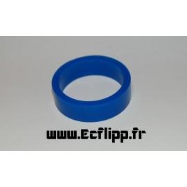 """cacaoutchouc de flipper silicone 1/2*  1-1/2"""" bleu"""