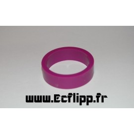 "cacaoutchouc de flipper silicone 1/2*  1-1/2"" purple"
