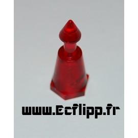 "Mini post 1"" rouge"