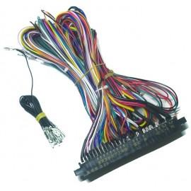 Connecteur Jamma cablage 6 boutons