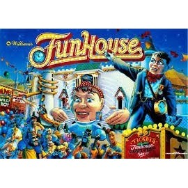 Translite  Funhouse ( Fun House 1990 )