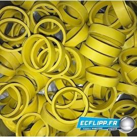 100x  caoutchoucs standard de flipper jaune