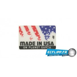 "Sticker "" Made in USA ""  rectangular shape"