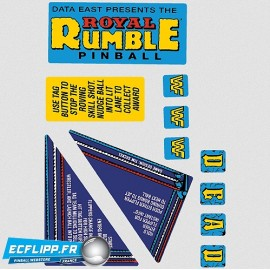 Royal Rumble playfield stickers set