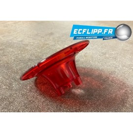 body bumper traslucent red , for Gottlieb and Kits