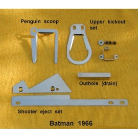 Cliffy's Batman 66 Stern scoop, upper kickout set, outhole drain, 2pc shooter ejects