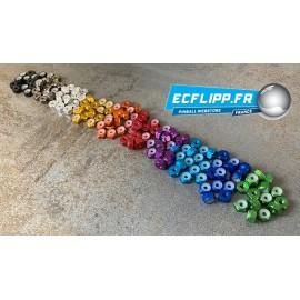 Set de 12 ecrous 8-32 anodisés divers couleurs