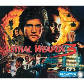 Acrylic Backglass Lethal Weapon 3