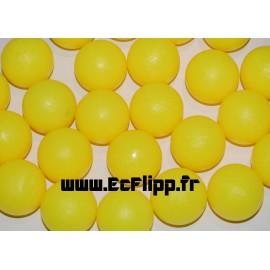 Balle plastique jaune